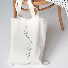 Women Shoulder Bag Fashion University Canvas Harajuku Vintage Ulzzang Print Cartoon New Summer Abstract Korean Fabric Tote Bag