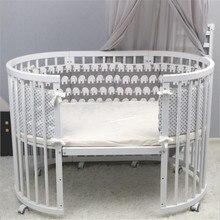 Детская кровать бампер мультфильм Младенческая Детская кроватка бампер подушка хлопок Защита для кроватки новорожденный детский бампер Защита для кроватки Декор детской комнаты