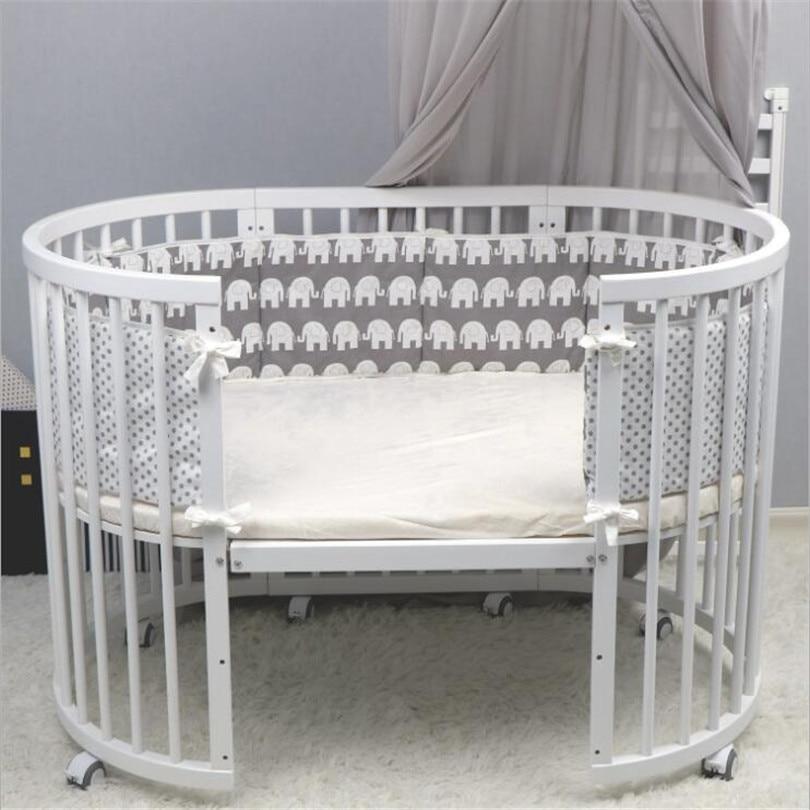 Baby Bed Bumper Cartoon Infant Baby Crib Bumper Cushion Cotton Crib Protector Newborn Baby Bumper Cot Protector Baby Room Decor