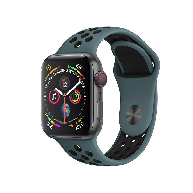 silicone Strap for Apple watch band 42mm 38mm correa iwatch 4 3 2 44mm 40mm sport band bracelet pulseira apple watch accessories Lahore