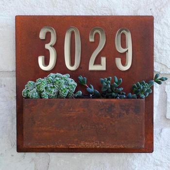 10cm samoprzylepne numer domu drzwi adres domowy numery skrzynki pocztowej dla numeru domu drzwi cyfrowe naklejki na zewnątrz znak #0-9 srebrny tanie i dobre opinie HASWARE Ze stopu cynku DN-DISTINCTION-SN-#0-9 Drzwi płyty Szczotkowane