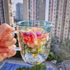 300 ML Creative Christmas Tree Glass Cup Heat-resistant Double Wall Glass Cup Coffee Mug with Lid Cute Christmas Gifts for Girls 2