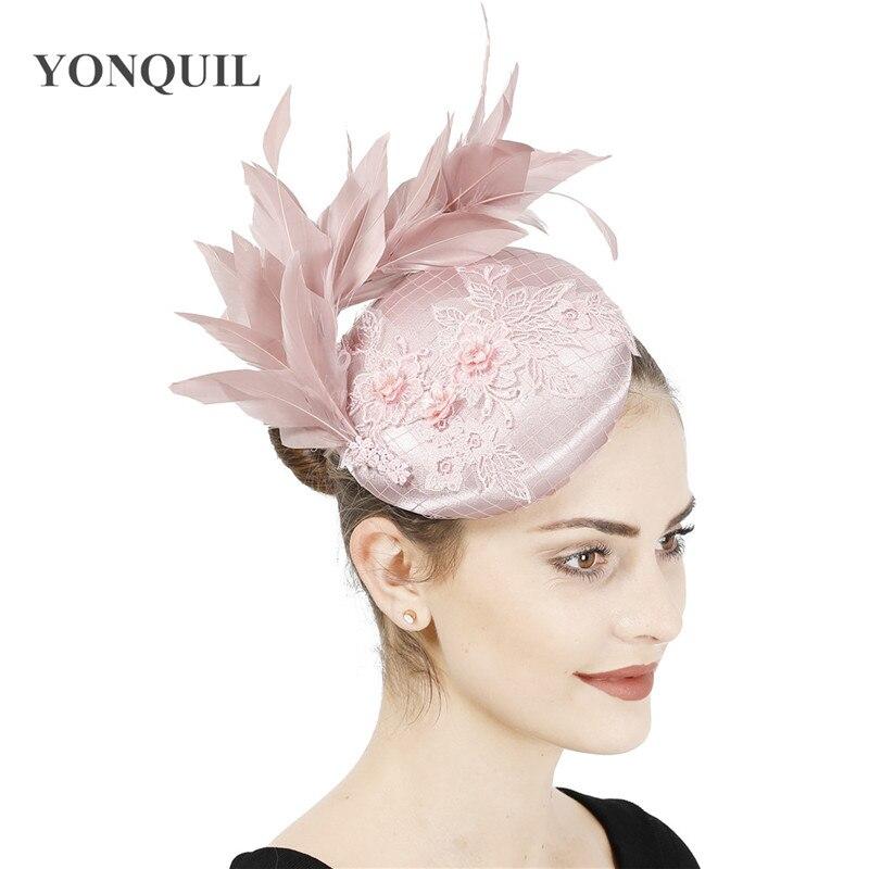 New Fashion Nelegant Bridal Wedding Fascinator Hat Hair Clip Women Female Church Occasion Headwear Formal Dress Party Millinery