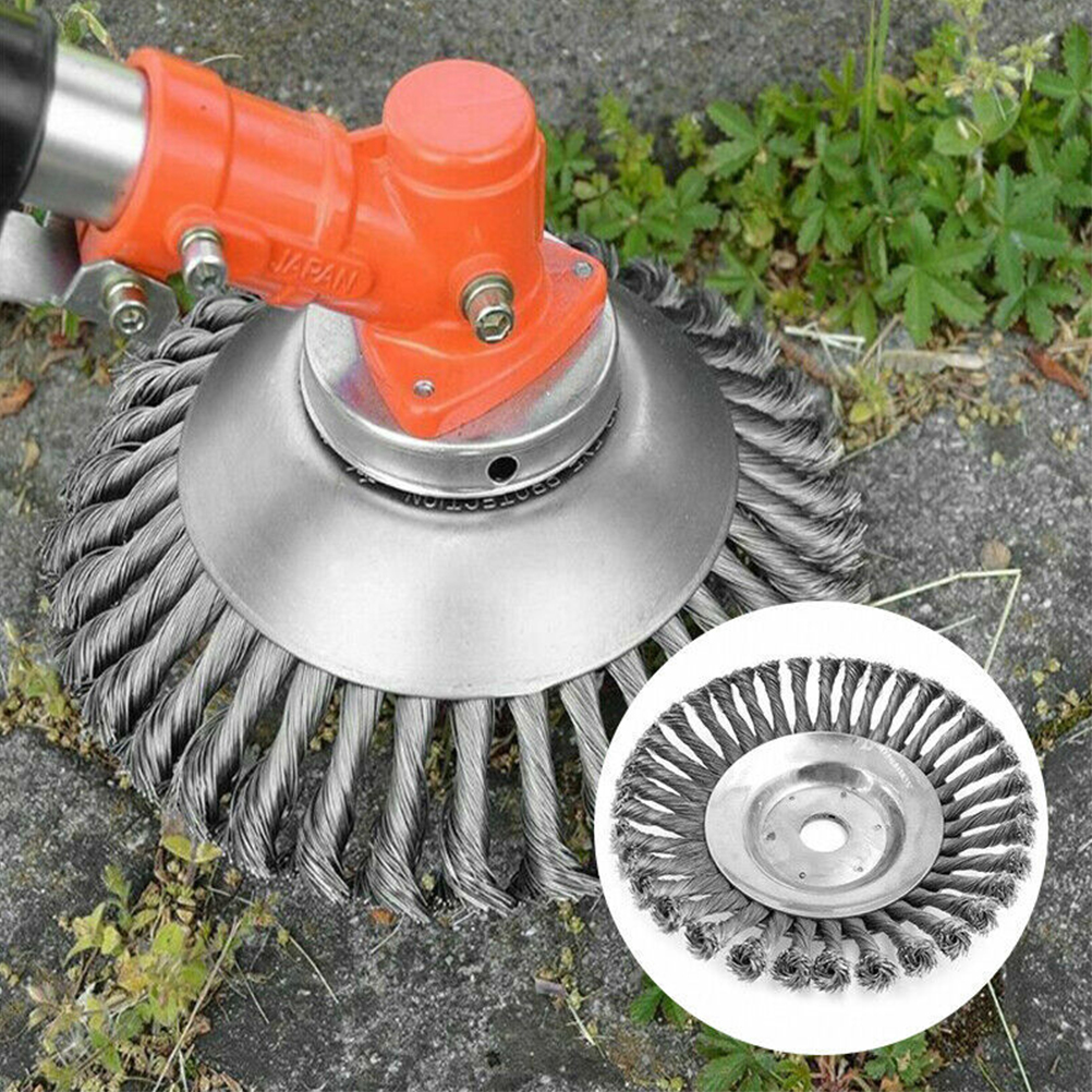 Break-proof Rounded Edge Weed Trimmer Edge Head for Power Lawn Mower New