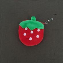 sweet Fruit Strawberry etc. 10CM Plush Purse , key chain Wallet Pouch Case BAG