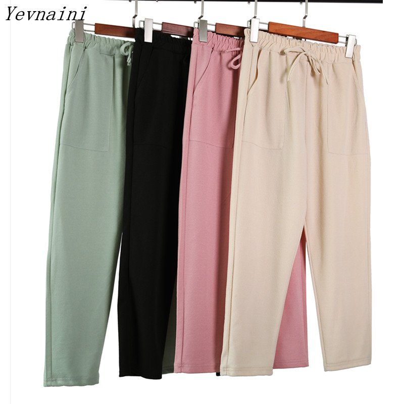 Women High Waist Length Pants Women's Spring Summer Casual Trousers Pencil Casual Pants Striped Women's Trousers Green Pink 2019