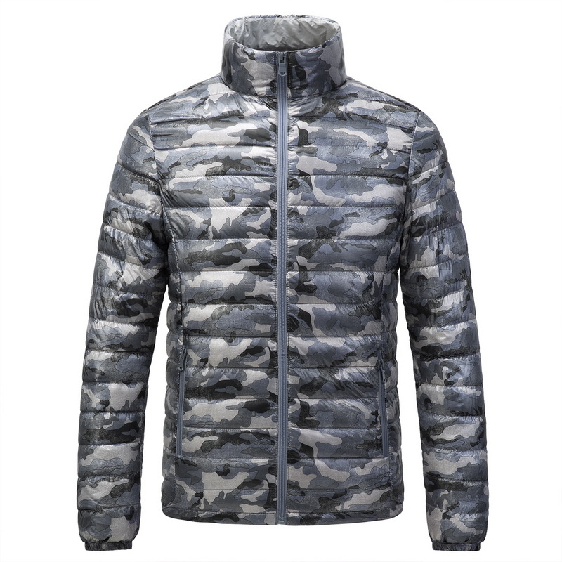 Brand men's winter   down   jacket stand collar camouflage ultra light   down   jacket   coat   men casual slim fit thin   down     coat   male
