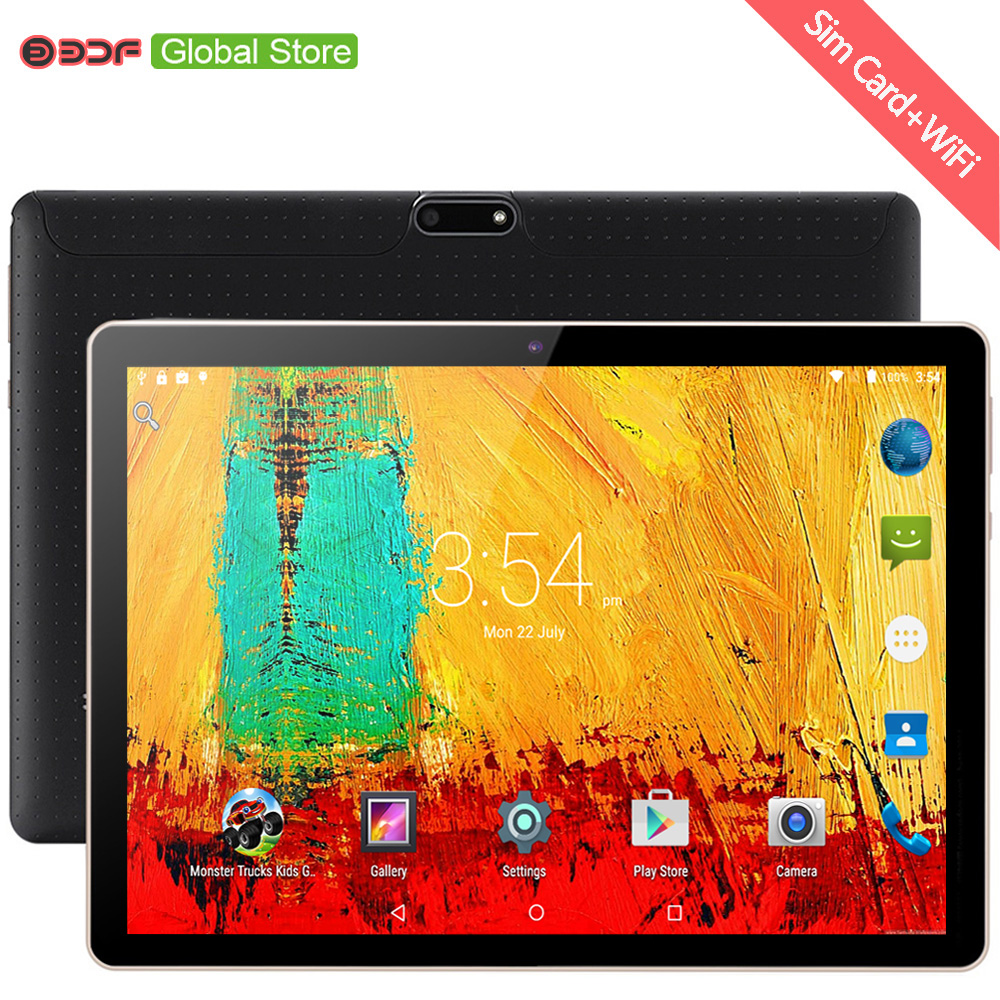 10.1 Inch Tablet PC 3G Android Tablet 7.0 Octa Core Tablets Ram 4GB Rom 64GB Tablet IPS Dual SIM Tablet Android 10 Tablets Pc