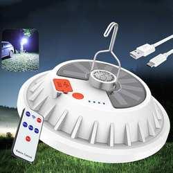 300W solaire Rechargeable LED Portable Camping lumière télécommande contrôlable pêche tente veilleuse lampe de travail d'urgence en plein air