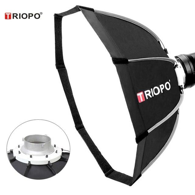 TRIOPO paraguas portátil de 120cm con soporte Bowens, sombrilla de vídeo de exterior, bolsa de transporte con bolsa para estudio de fotografía