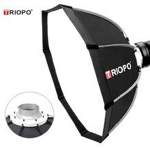 Triopo 65 Cm Di Động Gắn Kết Bowens Bát Giác Dù Softbox + Tặng Túi Đựng Ảnh Đèn Flash Studio Chụp Ảnh Ngoài Trời Hộp Mềm