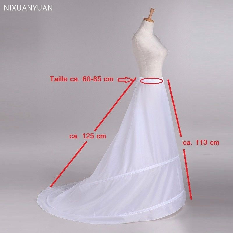 Где купить Оптовая продажа, юбка-обруч с шлейфом, новинка, 2 кольца, белое свадебное платье, Нижняя юбка, юбка-американка