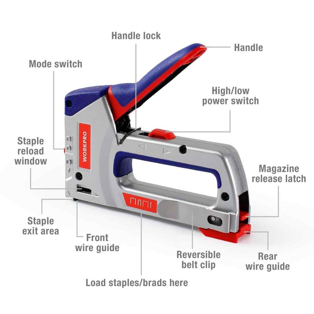 WORKPRO 4 IN 1 Heavy Duty Staple Gun for DIY Home Decoration Furniture  Stapler Manual Nail Gun with 4000 Staples Nailer| | - AliExpress
