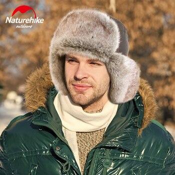Naturehike-gorro grueso de invierno, gorro cálido para exteriores, Camping, senderismo, a prueba de viento, 3 capas, térmico, nieve, esquí