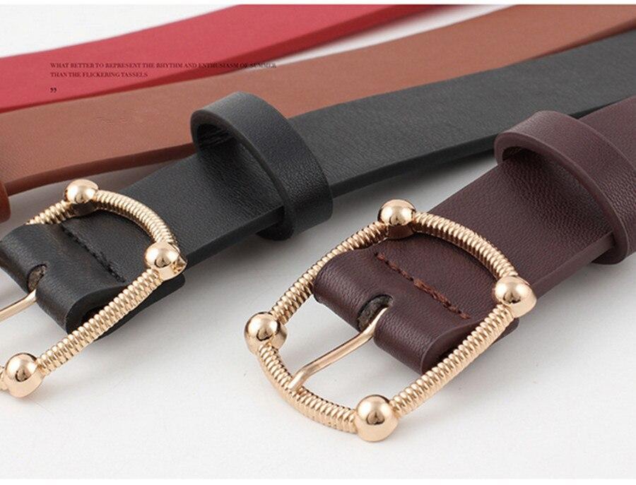 Women Imitation Lather Belt Alloy Pin Buckle Belt New Personality Ladies Fashion Dress Decoration Female Hot Sale Belt