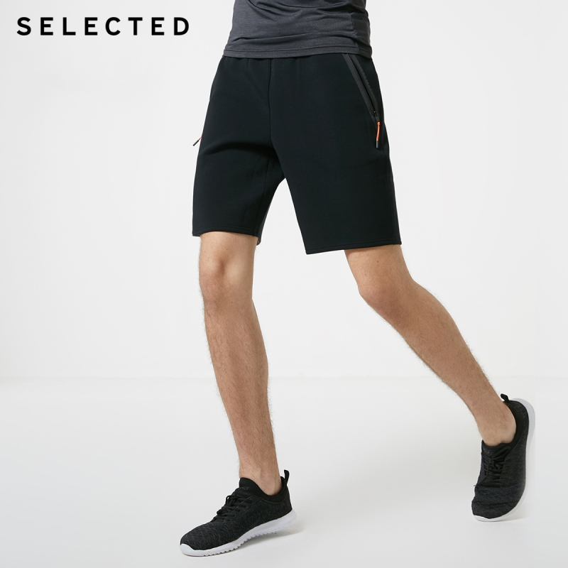SELECTED Men's Cotton Stretch Trend Sports Casual Shorts Tide SP | 4191SH502