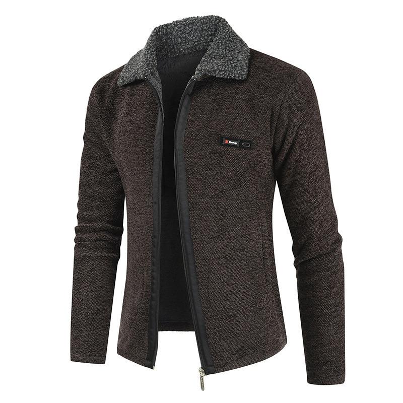 NEGIZBER 2019 Winter Mens Coat And Jackets Solid Slim Fit Thick Fur Wool Coats Men Fashion Warm Men's Cashmere Jacket Streetwear