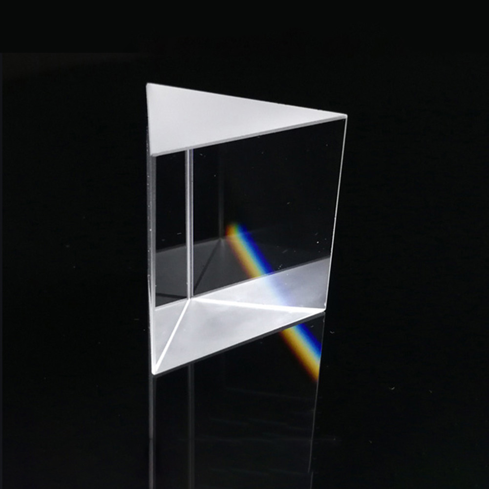 Optical Glass Prisms Crystal Triangular Prism Right Angle Isosceles Prisms for Lens Optical K9 Testing Instrument 10*10*10mm