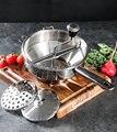 Ручной картофельный машер из нержавеющей стали роторная пищевая мельница отлично подходит для изготовления пюре или супов овощей помидоро...