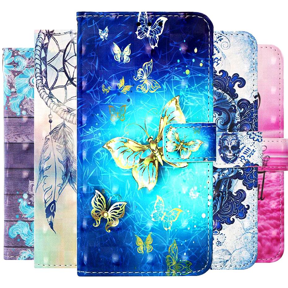 M10 3D Painted Case For Samsung Galaxy M10 Case Flip Wallet PU Leather Phone Case For Samsung Galaxy M10 M105F M105 M 10