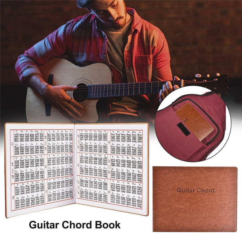 Guitar Chords For Folk Classical Guitar Electric Portable 6-string Music Map Paperback Book