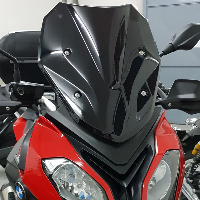Ön cam için S1000XR S 1000 XR K49 2015 2016 2017 2018 2019 rüzgar ekran deflector cam siyah duman iridyum