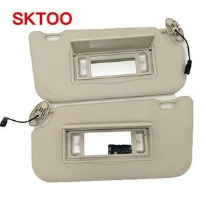 Солнцезащитный козырек SKTOO для Ford Focus (2012-2018) с зеркалом для макияжа, солнцезащитный козырек для автомобиля, солнцезащитный козырек, серый св...