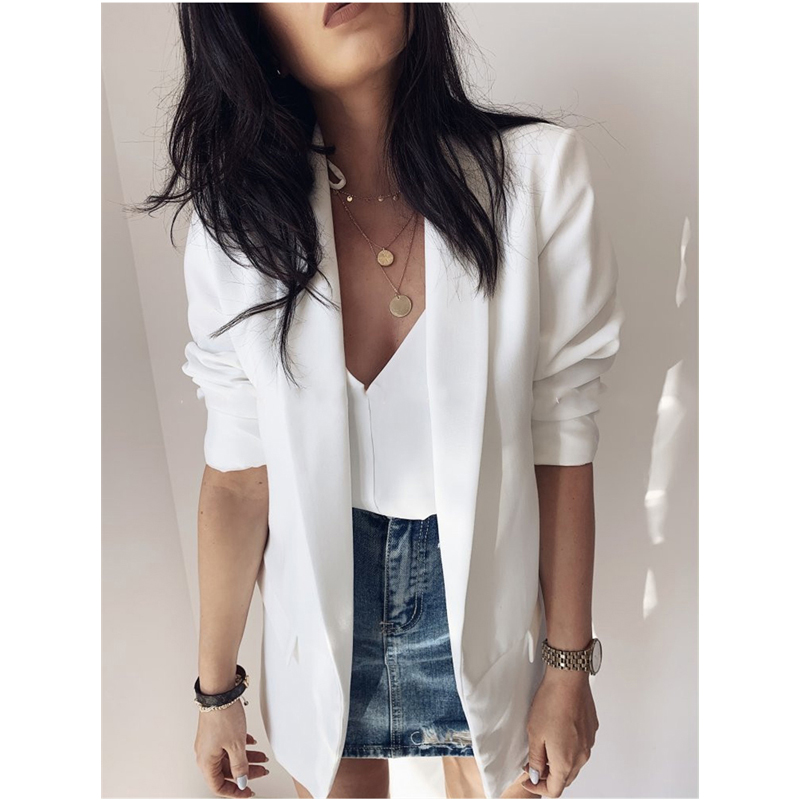 Spring Women Fashion OL Elegant Suit Jacket Blazers Homewear Casual  Long Sleeve Suit Tops 2020 Trend