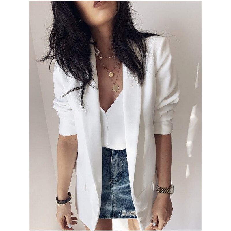 Spring Women Fashion OL Elegant Suit Jacket Blazers Homewear Casual  Long Sleeve Suit Tops 2020 Trend