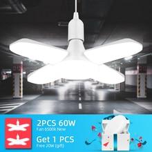 Super Bright Industrial Lighting 60W E27 Led Fan Garage Light 360 Degrees Deformable Led High Bay Industrial Lamp For Workshop