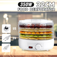 350W 32CM 5 Trays Air Dryer Food Dehydrator Fruit Vegetable Herb Meat Drying Machine Snacks Fruit Dryer Food Dryer AC110V/220V