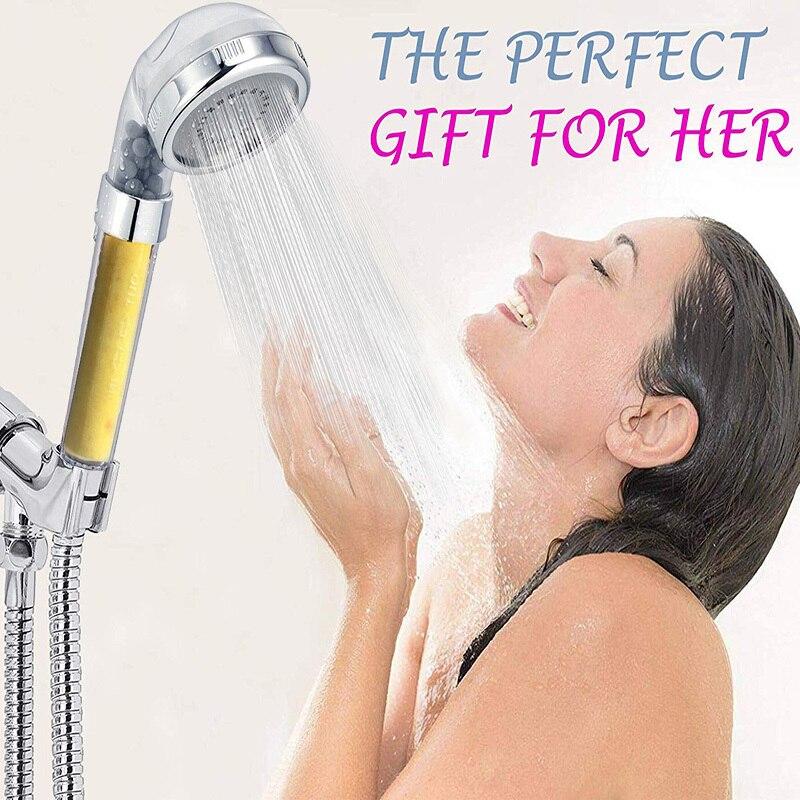 EHEH Bathroom  SPA Shower Head Lemon/Lavender Scent Aroma skin care High Pressure Nozzle Anion Filter Showerhead