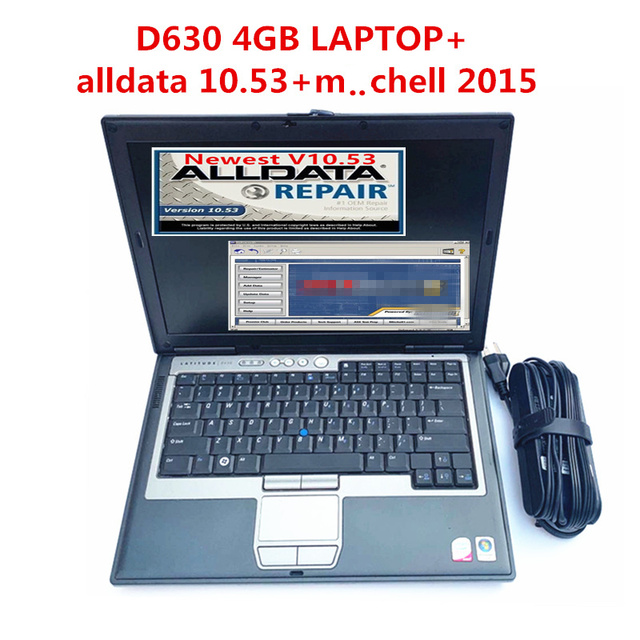 2020 Hot All Data 10.53 Auto Repair Software Alldata M..Chell 2015 Software Atsg 3in1 1TB HDD Installed in Laptop D630 4g RAM