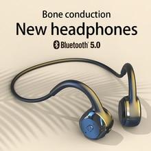 Écouteurs sans fil à Conduction osseuse, Bluetooth, stéréo, étanche, Audio Mp3, avec Microphone de musique, pour Xiaomi Huawei Apple