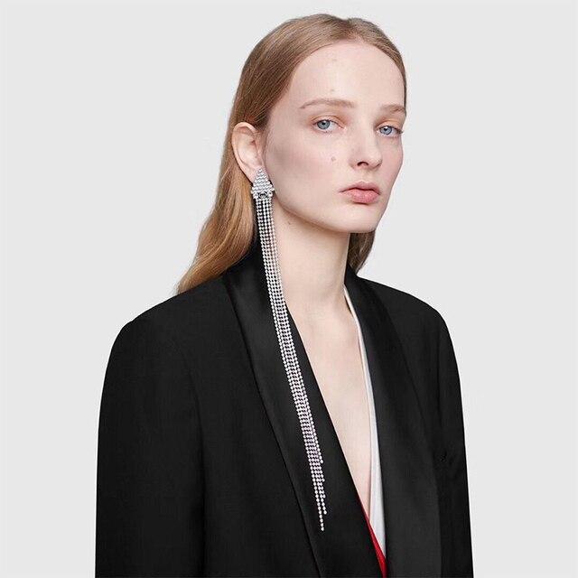 Купить lzhlq винтажные длинные висячие серьги для женщин геометрические