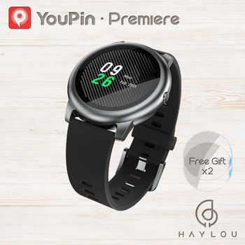 YouPin Haylou Solar LS05 reloj inteligente deporte de corazón de Metal de Monitor de sueño IP68 impermeable iOS Android versión Global para Xiaomi