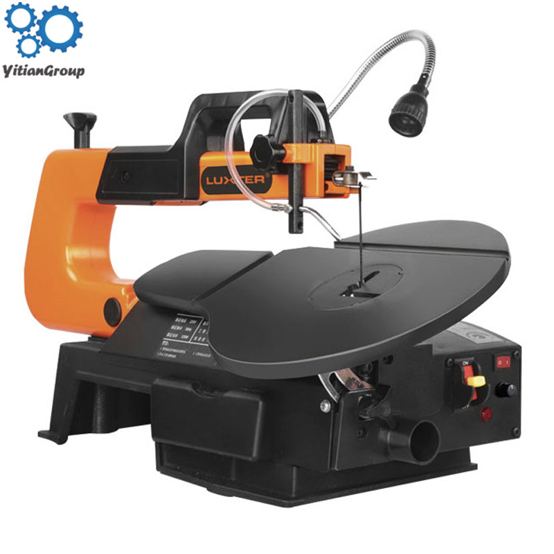 SSA16LV 120W Jig Saw DIY Scroll Saw For Wood Cutting Depth 50mm Saws (Free 10Pcs Blades) Speed Adjustable Cutting Machine
