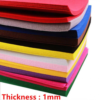 10pc 30*30cm DIY Handmade nietkana tkanina filcowa poliester kwiaty tkaniny robótki igły krawiectwo zabawki lalki filc #8230 tanie i dobre opinie 20 Sztuk PR-FP0176 felt Colorful Felts 10 pieces Felt Vilt 28 Different colors Sewing Dolls Crafts Christmas Crafts For Children
