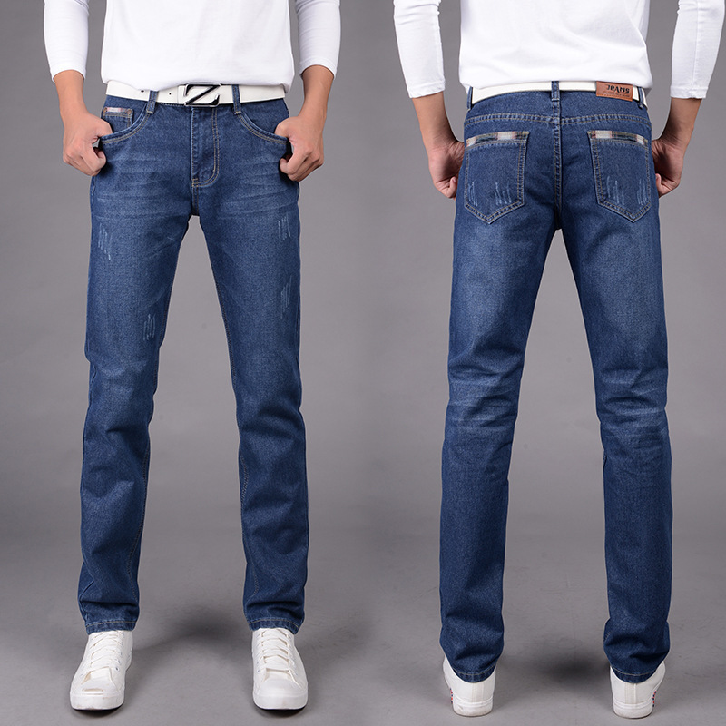 AliExpress Jeans Trousers Large Size Medium Waist Slim Fit Slimming Spring And Autumn Casual