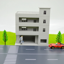 wholesale 1/144 SCALE model train building Miniaturas Furniture House plastic model tower for architecture model layout