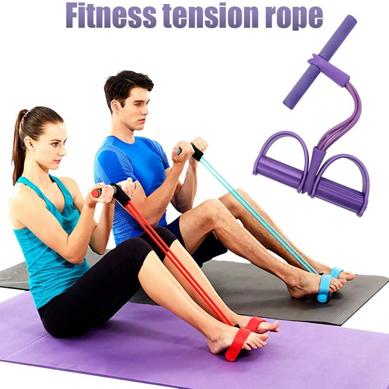 Fitness Tension Rope Exercise Resistance Bands Home Leg Foot Yoga Pull Rope Band Gym Latex Pedal Exerciser Sport Equipment