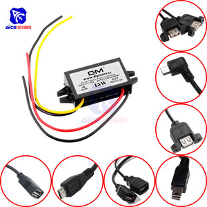diymore DC-DC Step Down Buck Converter Power Supply Module 12V to 5V 3A 15W for Car Male Female USB Mini USB Micro USB Adapter(China)