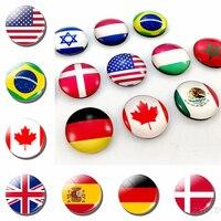 Bandeiras do mundo geladeira ímã bandeira nacional geladeira ímãs américa eua canadá inglaterra espanha brasil rússia finlândia países|Imãs de geladeira| |  -