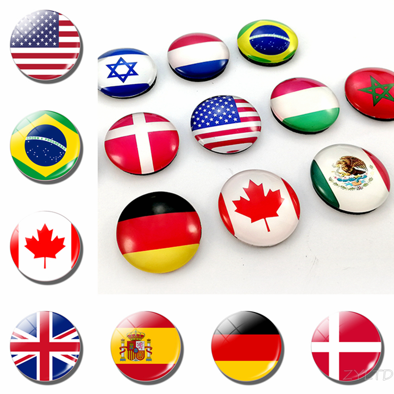 World Flags Fridge Magnet National Flag Refrigerator Magnets America USA US Canada England Spain Brazil Russia Finland Countries(China)