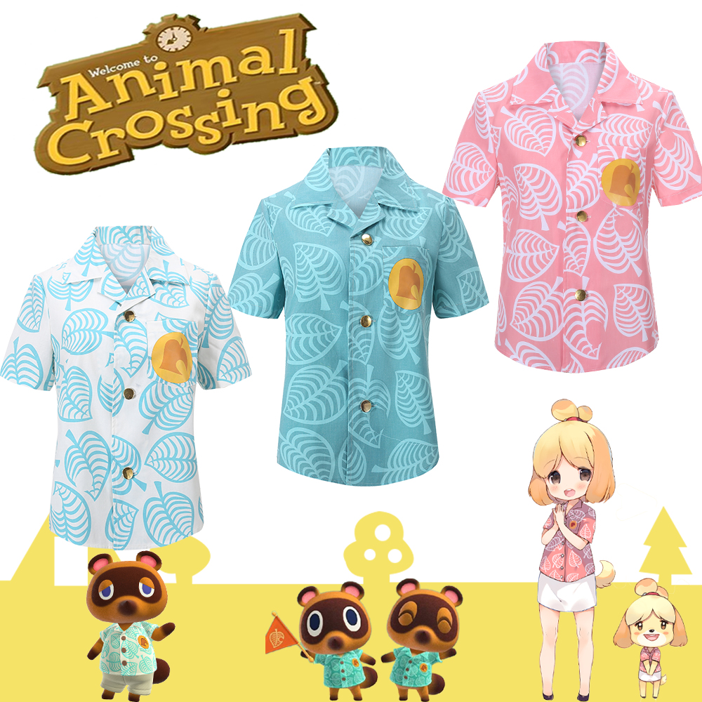Animal Crossing T Shirt Horizons Isabelle Cosplay Timmy COS Tommy Tom Nook Costume S-XXL Adult Top Blouse T-shirt In Stock