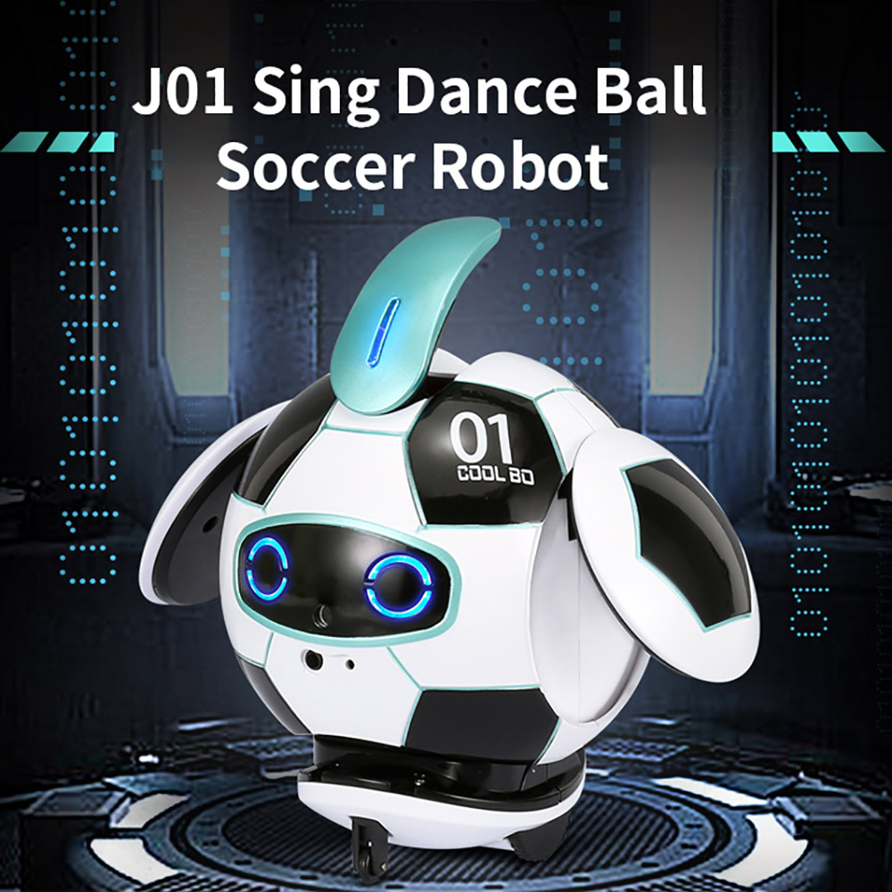 Intelligent J01 RC Robot 2.4G Remote Control Soccer Robots With Sound Action Figure Ball Robot Toys for Children Gift