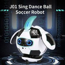 Intelligent J01 RC Robot 2.4G Remote Control Soccer Robots With Sound Action Figure Ball Robot Toys for Children Gift(China)