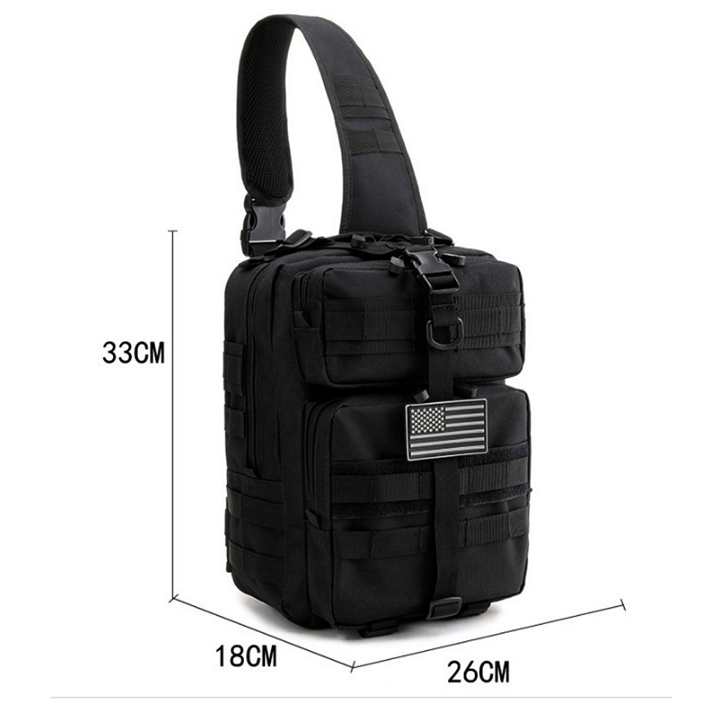 15L Black Tactical Shoulder Bag Portable Military Backpack Sports Bags For Hiking Cycling Trekking Hunting Outdoor Travel Bags in Climbing Bags from Sports Entertainment