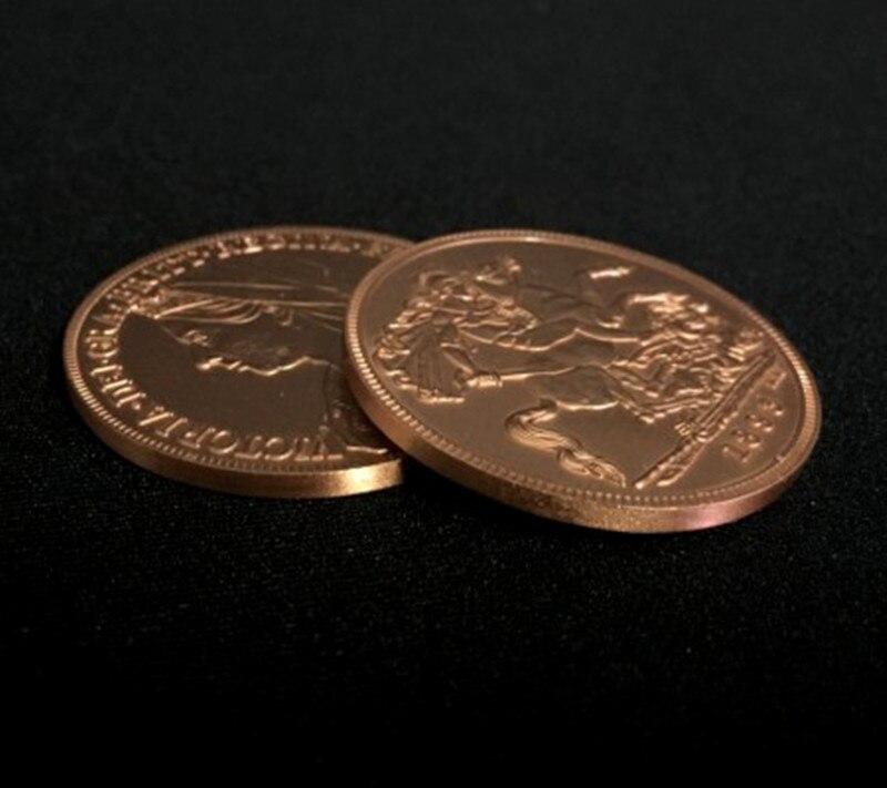Queen Victoria Ancient Coin (Red Bronze) Gimmick Close Up Magic Props Stage Magician Trucos De Magia Coin Magic Tricks Illusion