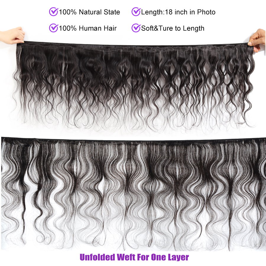 Alidoremi Peruvian Body Wave Hair Bundles 100% Human Hair Weave Natural Color 8-28 Inch Non Remy Hair Extension
